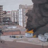 Kreuzberg 1980,Bauwagenbrand