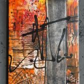 Original Bild Abstrakt Acryl Deko Wand Kunst Art Design Leinwand signiert #1