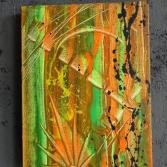 Original Bild Abstrakt Acryl Deko Wand Kunst Art Design Leinwand signiert #2