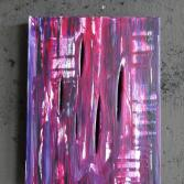 Original Bild Abstrakt Acryl Deko Wand Kunst Art Design Leinwand signiert #4
