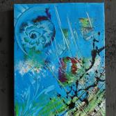 Original Bild Abstrakt Acryl Deko Wand Kunst Art Design Leinwand signiert #3