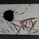 Original Bild Abstrakt Acryl Deko Wand Kunst Art Design Leinwand signiert #8