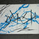Original Bild Abstrakt Acryl Deko Wand Kunst Art Design Leinwand signiert #5