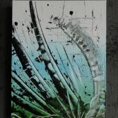 Original Bild Abstrakt Acryl Deko Wand Kunst Art Design Leinwand signiert #6
