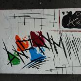 Original Bild Abstrakt Acryl Deko Wand Kunst Art Design Leinwand signiert #9