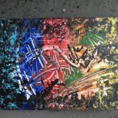 Original Bild Abstrakt Acryl Deko Wand Kunst Art Design Leinwand signiert #11
