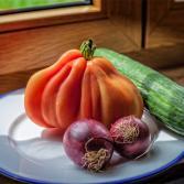 Gemüse am Fenster