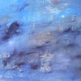 Acrylbild Abstrakt in Blau