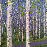 Frühling im Birkenwald
