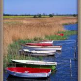 Boote am Schilfufer