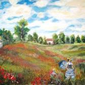 Mohnfeld nach Monet