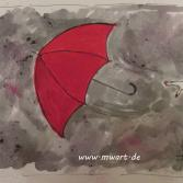 The flying red Umbrella - der fliegende rote Regenschirm