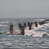 Brücke im Sturm