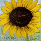 Acrylbild Sonnenblume
