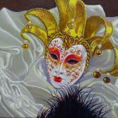 Venedig und seine Masken weiß