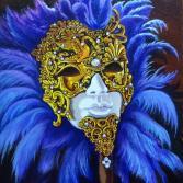 Masken aus Venedig blau