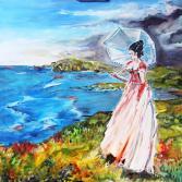 """"""" Die Dame und das Meer """""""