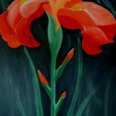 Acrylbild Schwertlilie