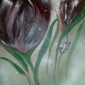 Tulpen im Nebel