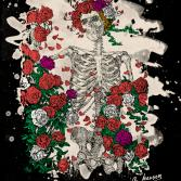 Skeleton & Roses (colored + bleached version)