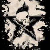 Rock-n-Roll Skull (bleached version)