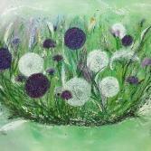 geflochtene Blumenwiese