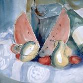 Melone mit Birnen
