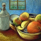 Früchtekorb mit Flasche