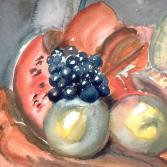 Melone mit Trauben 2