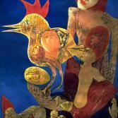 Frau mit Gockel