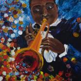Musik gemalt,Trompeter