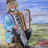 """Clown with Accordion """"Strimpelli"""""""