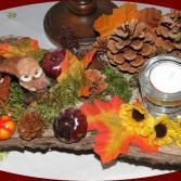 Herbstgesteck Eule