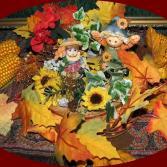 Herbstgesteck Sonnenblume
