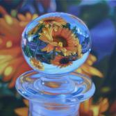 Sonnenblumen im Glasknopf