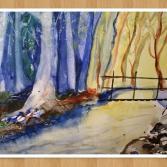 Fluss am Wald