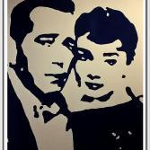 Humphrey Bogart und Audrey Hepburn