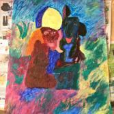 Afrikanischer Priester mit Hund - African priest with dog