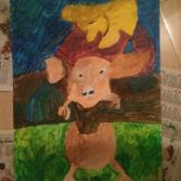 Bäuerin mit Schwein auf der Schlachtbank - Farmer with pig