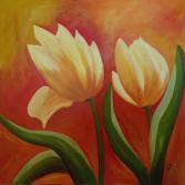 Acrylbild Gelbe Tulpen