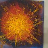 """Acrylgemälde """"Sonnenexplosion"""""""