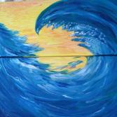 "Acrylgemälde 2-teilig, ""Die Welle"""