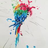 Papagei verliert Farbe