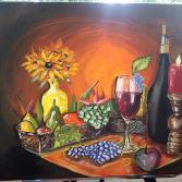 """Stillleben""""Obst und Wein"""""""