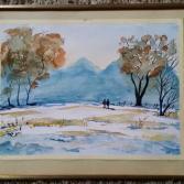 Winterlanschaft in den Bergen
