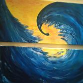 """Acrylgemälde """"Die Welle"""""""