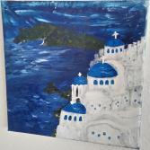 """Acrylgemälde """"Santorini"""""""
