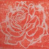 Linoldruck Rose A4
