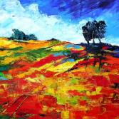 Landschaft, Rot