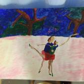 Tanz auf dem Eis bei Sturm - Dance on ice